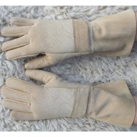 Padded leather gloves