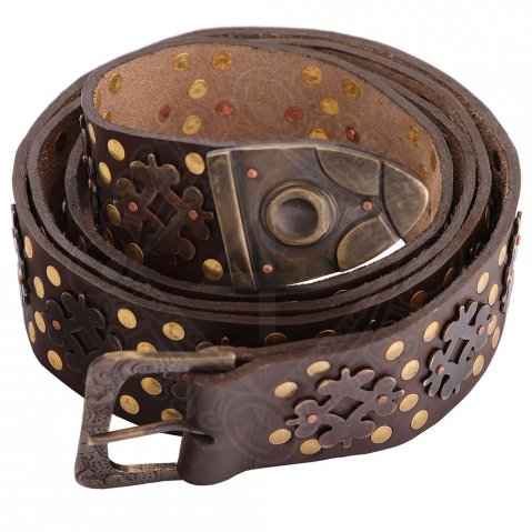 Medieval Long Belt from premium leather