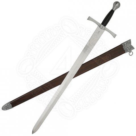 Medieval sword with scabbard Rowan