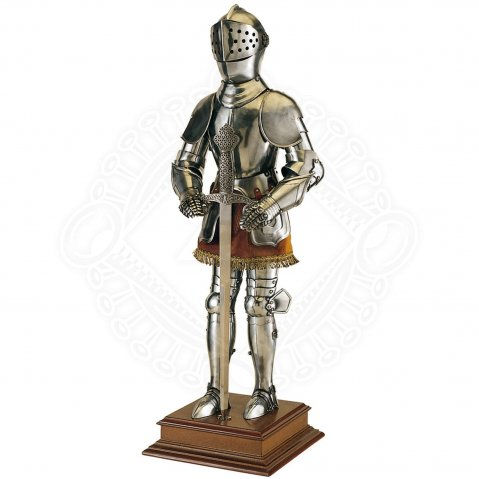 Knight in Armor with Sword, 61cm Resin Statue