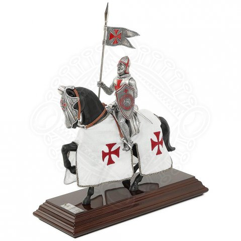 Figure of a mounted Templar Knight