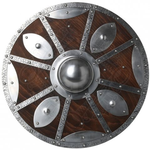 Viking shield with metal fittings 55cm