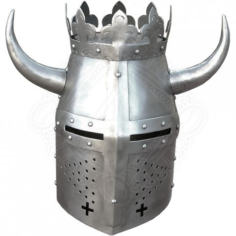 Crested great helm, end 13th cen.