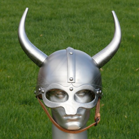 Fantasy Viking helm with metal horns
