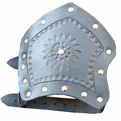 Leather hand back shield