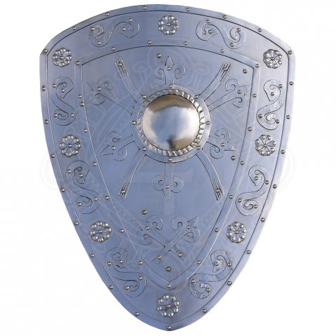 Battle ready shield, richly decorated