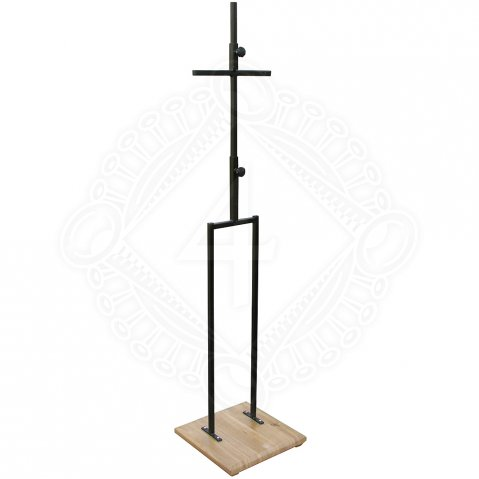 Armour stand with wooden base