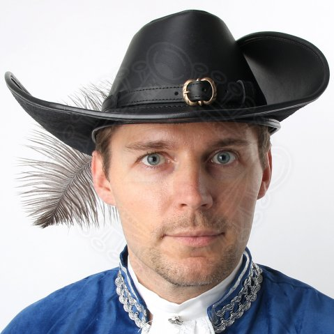 Musketeer Hat from leather