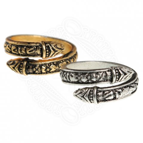 Ancient Viking Serpent Mans Ring. c. 900 A.D.
