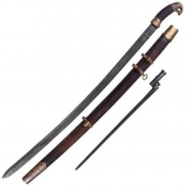 Aged Russian Shashka, aged finish, Cossack Sabre with Bayonet