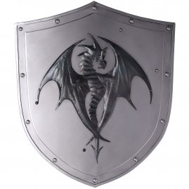 Combat shield with dragon
