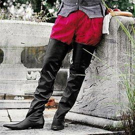 Black Thigh High Pointed Boots