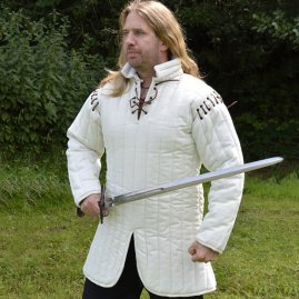 Gambeson with removable sleeves