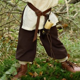Loose-Fitting Medieval Pants Ricker for Children, brown