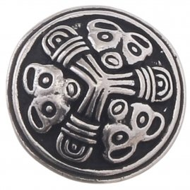 Small Viking Disc Fibula Birka in Borre Style