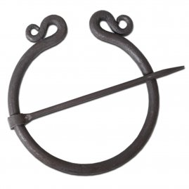 Ring brooch, double coil design