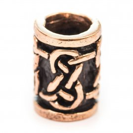 Celtic hair or beard bead with never-ending knot pattern
