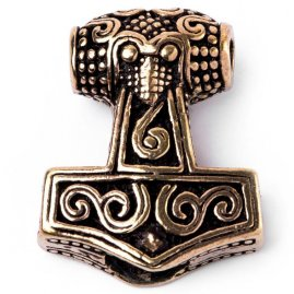 Viking Beard Bead Thor's Hammer from Scania, Bronze