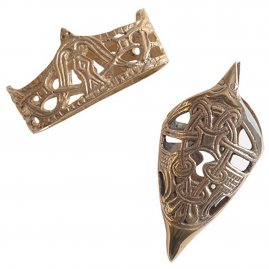 Chape and Locket, brass scabbard fittings