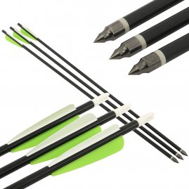 Aluminium arrow black 30