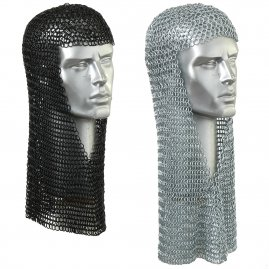 Chain mail coif with V-face