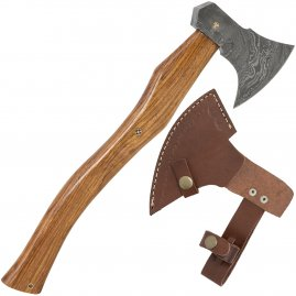 Hatchet with damask blade