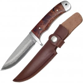 Damask knife with sheath