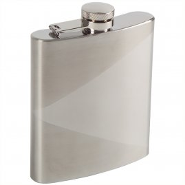Hip flask with matte triangle