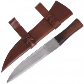 Seax knife with sheath