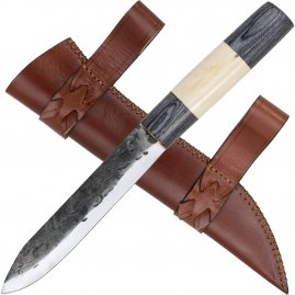 Sax knife with blackwood and bone handle