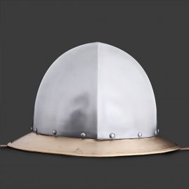Kettle hat with short brass brim