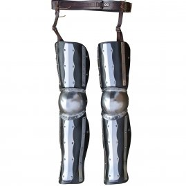 Leather and steel leg armor