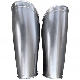 Steel greaves, 2pcs