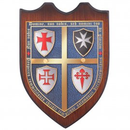 Wall plaques for templar swords
