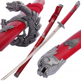 Red Snake Katana with sheath