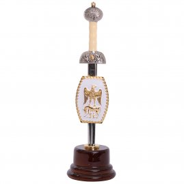 Roman Sword Julius Caesar in wooden base - letter opener