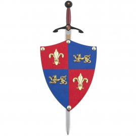 Mini-shield Black Prince with optional sword