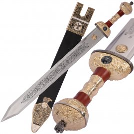 Sword Julius Caesar golden with optional scabbard