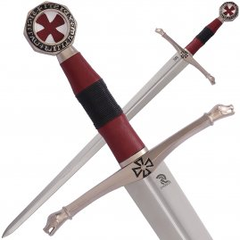 Medieval Sword of the Knights of Heaven with silver plated finish with optional sheath