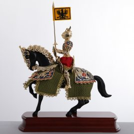 Figure of a German knight on horseback