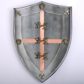 Shield Richard Lionheart 63x46cm with antiqued finish