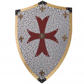 Crusader shield with brass frame