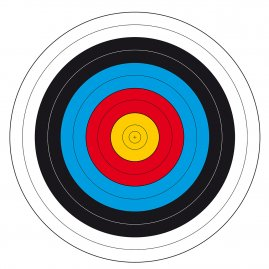 Archery target face FITA 23 1/2, 25m