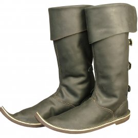 Gothic high boots with rear buckles
