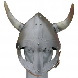 Viking helm with front shiled and horns