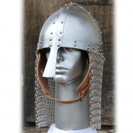 Conical nasal helmet with short aventail