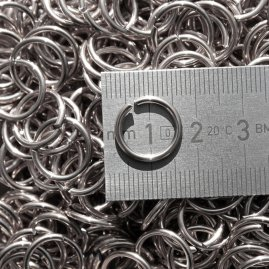 Chain mail rings, 1 kg-packet, not riveted, stainless