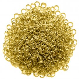 Brass mail rings, 1 kg
