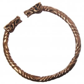 Large Bracelet Viking Dragon, 65 mm