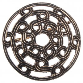 Viking Fibula with Celtic Knot Pattern, 35 mm